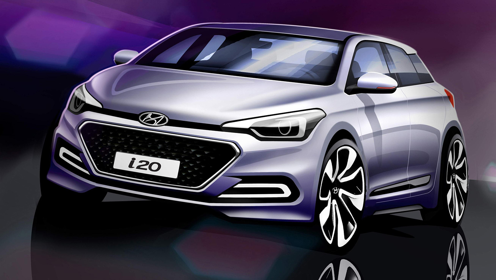 h New Generation i20 Rendering_Front