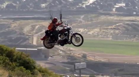 El día que una Harley-Davidson aprendió a volar