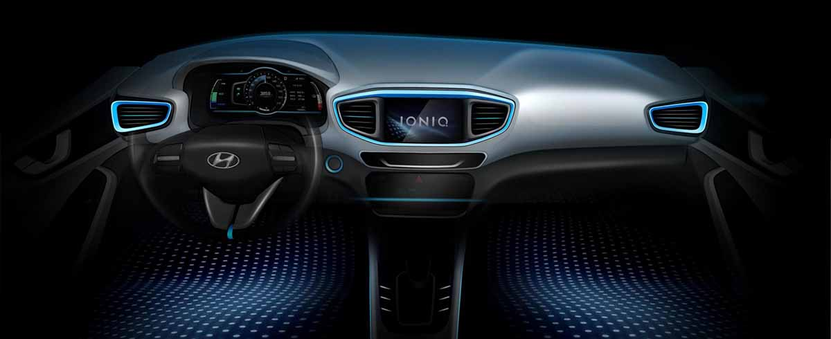 IONIQ interior teaser
