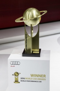 "The ""2016 World Performance Car"" award."