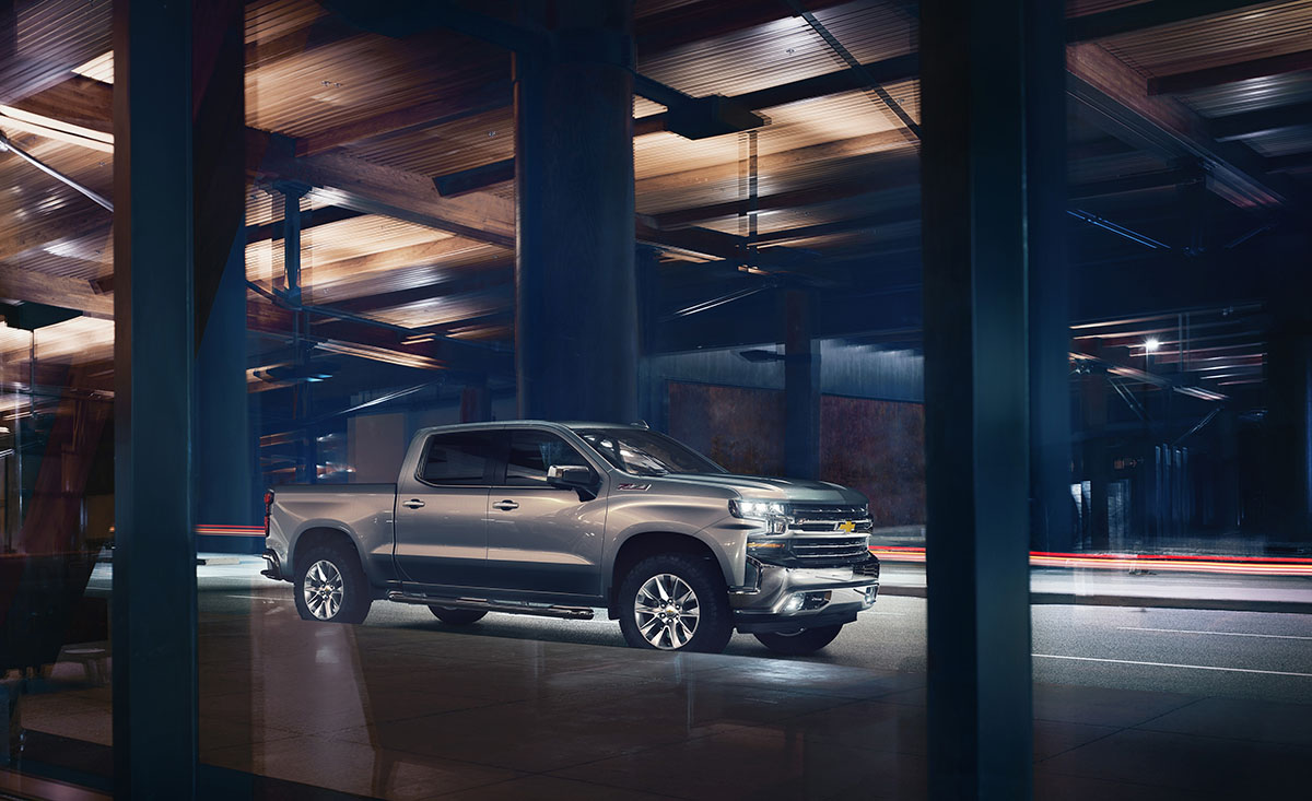 The all-new 2019 Silverado LTZ features chrome accents on the bu