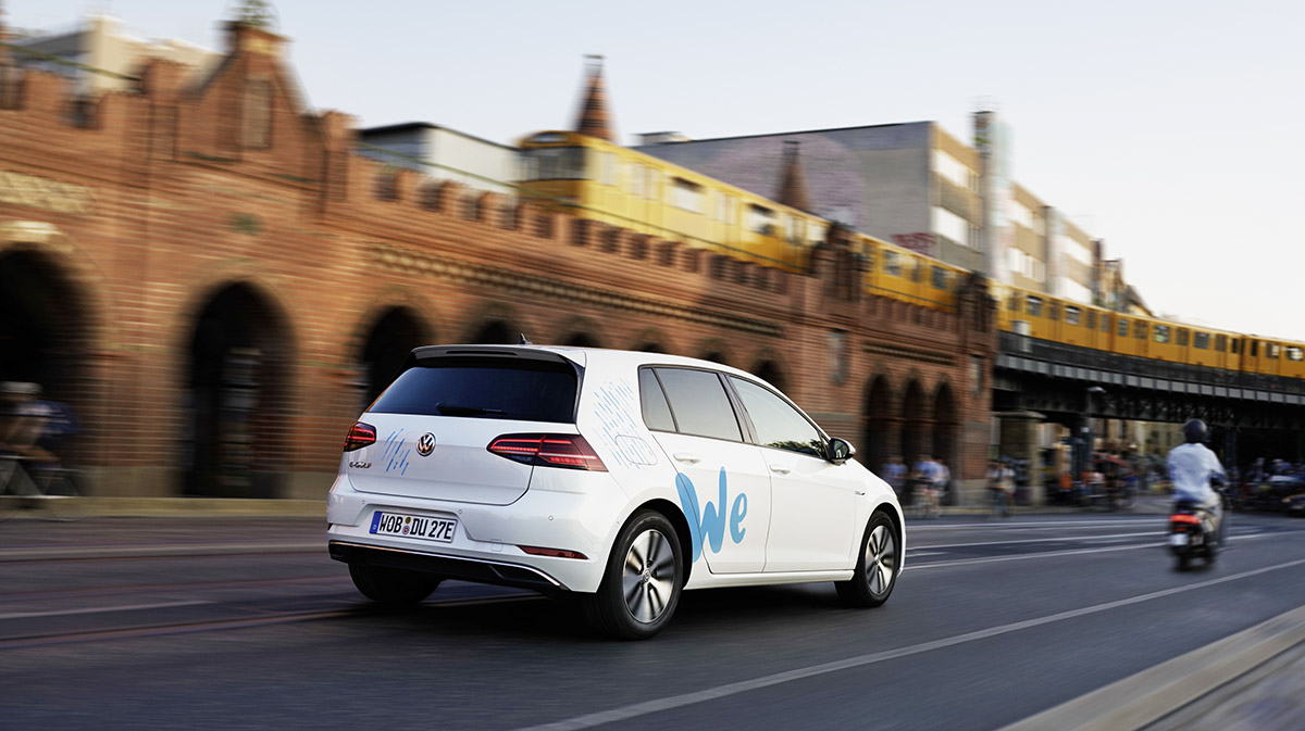 "Volkswagen starts ""We Share"" e-mobility car sharing in Berli"