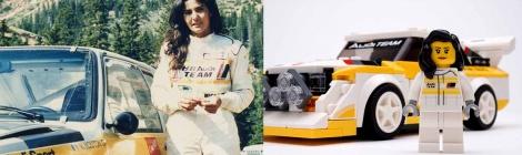 Audi y Lego homenajean a Michèle Mouton, la primera y única mujer que ha ganado una prueba del Mundial de Rallies