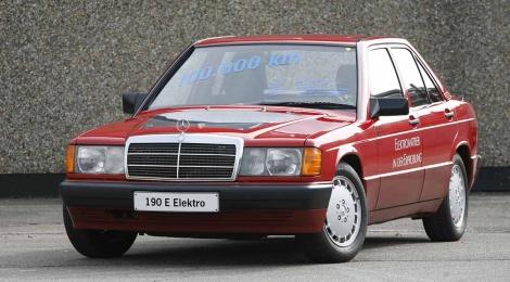Pionero de la e-movilidad: Mercedes-Benz 190 con accionamiento eléctrico en 1990