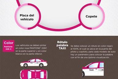 Nueva cromática para taxis en la Ciudad de México