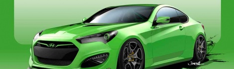 Hyundai Genesis Coupe mostrará su lado agresivo en el SEMA
