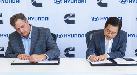 Hyundai en alianza con Cummins: propulsión eléctrica con combustible de hidrógeno